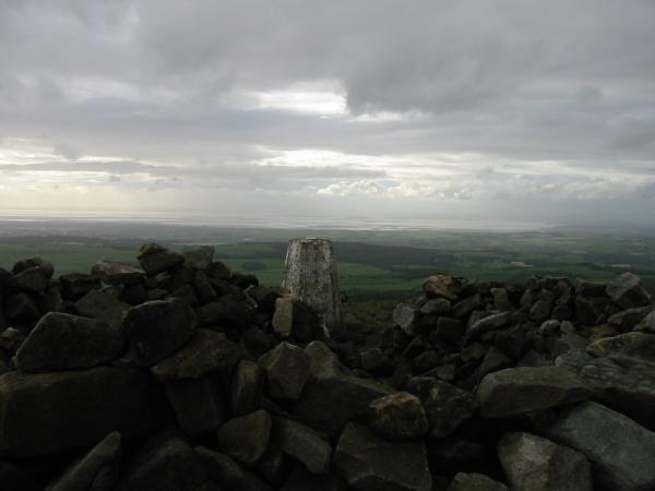 Looking towards Morecambe Bay from the summit