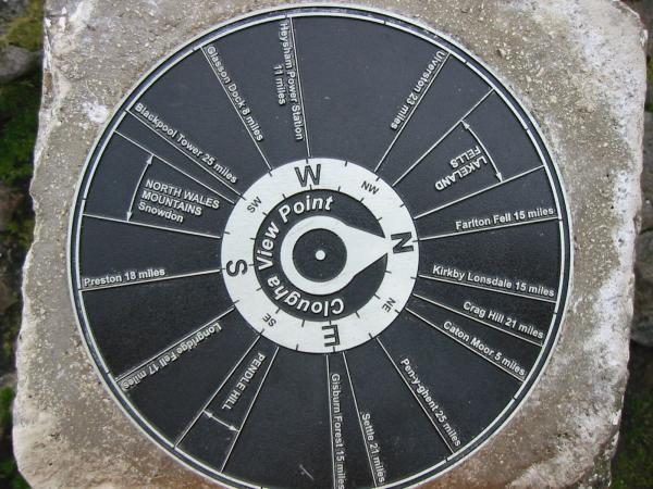 The summit view finder on top of the trig point