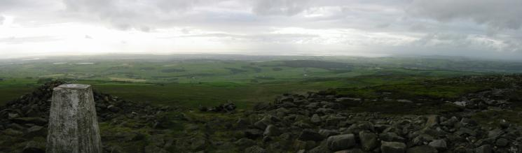 Westerly panorama from the summit