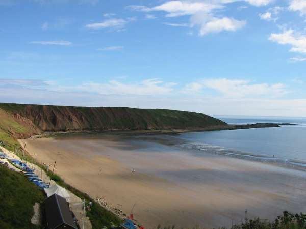 Looking across Filey Sands to Filey Brigg