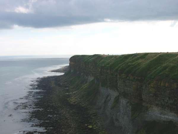 Looking back to Newbiggin Cliff