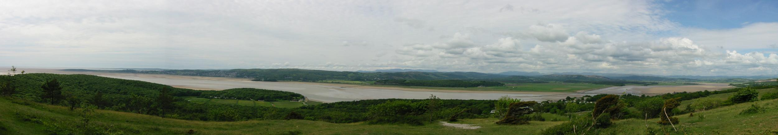 Northerly panorama from Arnside Knott view point
