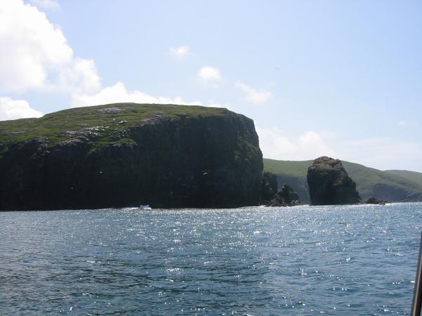 The cliffs on Mingulay's west coast