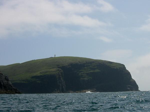 The lighthouse on Berneray, the island is also known as Barra Head