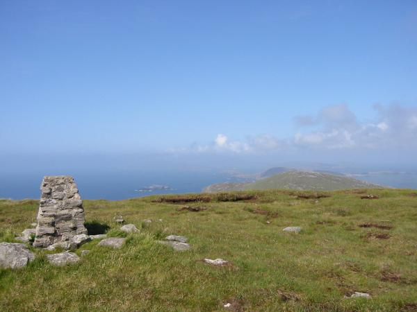 The view north from Carnan's summit