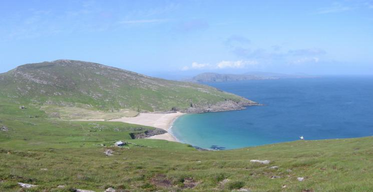The beach from the descent off Shecla
