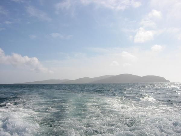 Looking back to Berneray and Mingulay