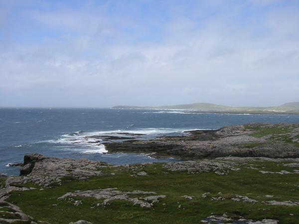 Looking northwards up the west coast of Barra