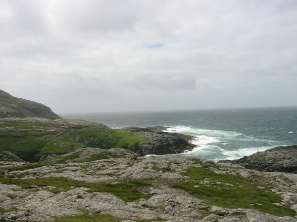 The rugged west coast of Barra