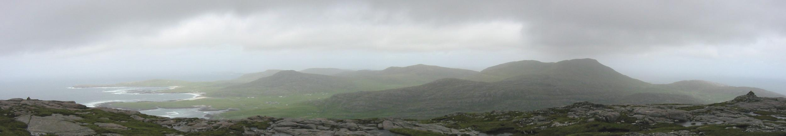 Northerly panorama from Ben Tangaval's summit