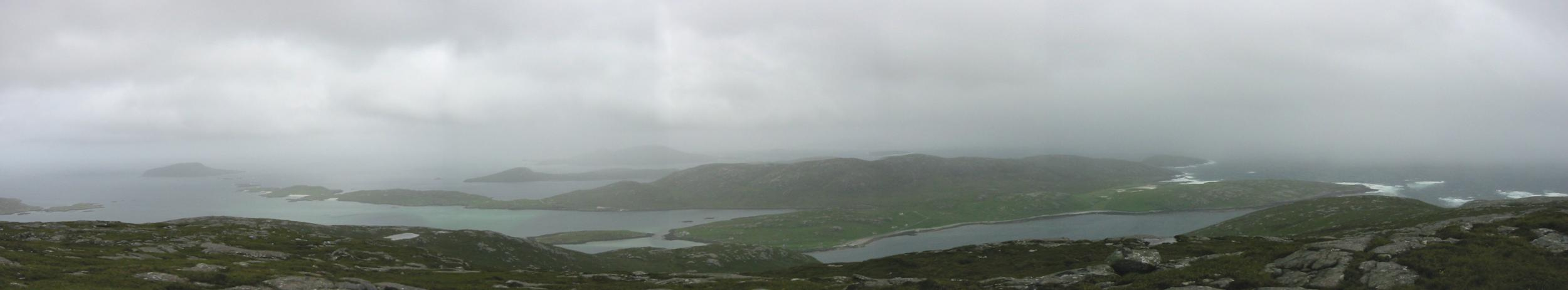 Southerly panorama from Ben Tangaval's summit