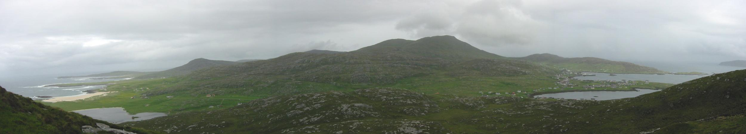 Easterly panorama from the descent off Ben Tangaval