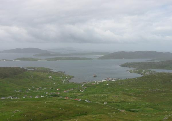 Castlebay from the ascent