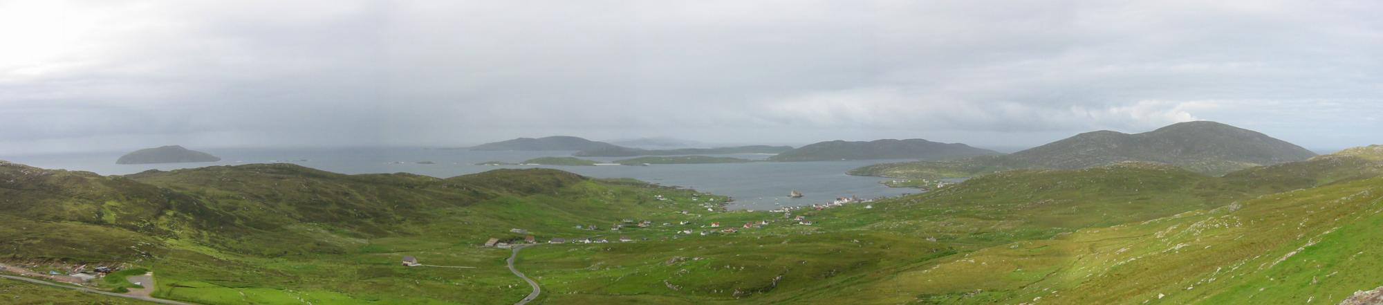Southerly panorama from the climb up Heaval