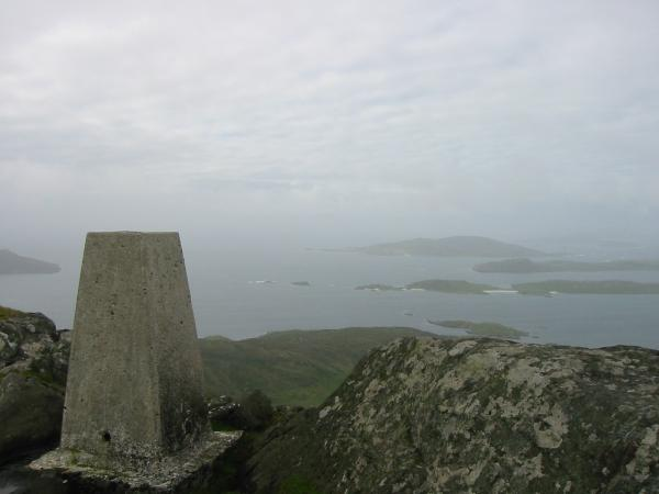 The view south from Heaval's summit