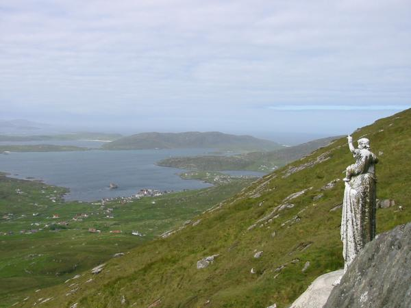Castlebay from the Madonna and Child