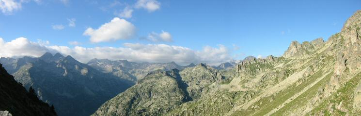 View south from the col