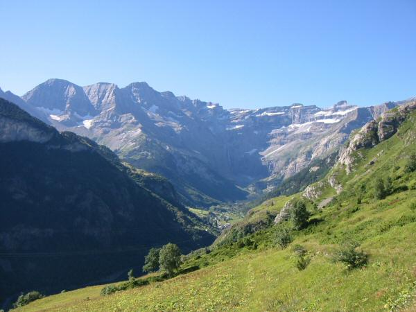 Looking back to the Cirque de Gavarnie
