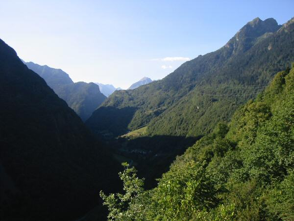 The view back south as we head for Luz