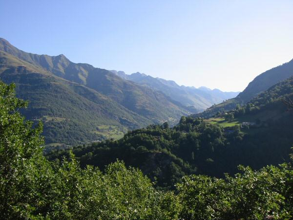 The valley that leads to Bareges. We descended to Luz before climbing the mountain side on the far right of the photo