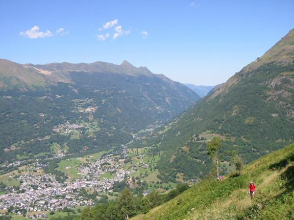 Looking back down on Luz as we near the top of a steep 2,000ft ascent