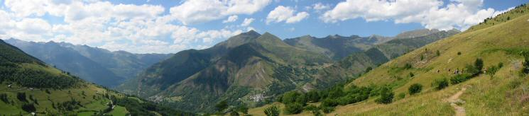 Northerly panorama from above Bareges