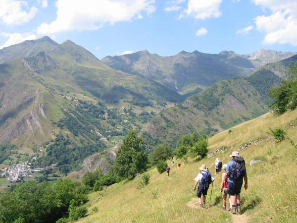 The start of the descent to Bareges
