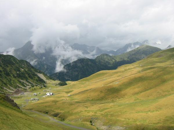 The view back west as we approached the Col de Portet