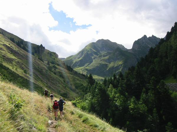 Heading up Val d'Aube