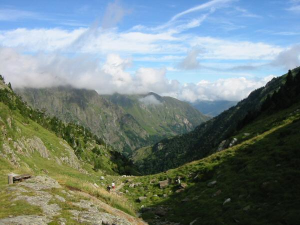 The view back north from Col d'Espingo