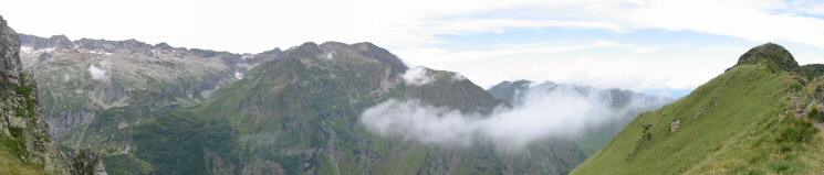 Panorama west from the col
