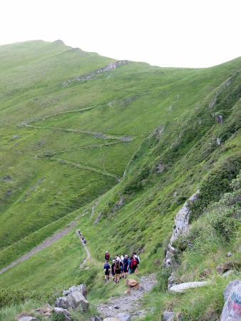 The last climb of the trek to the col below Pic de Cecire