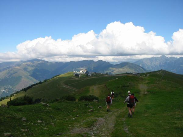The ski resort of Superbagneres, the end of the trek. We took the gondola down to Bagneres-de-Luchon