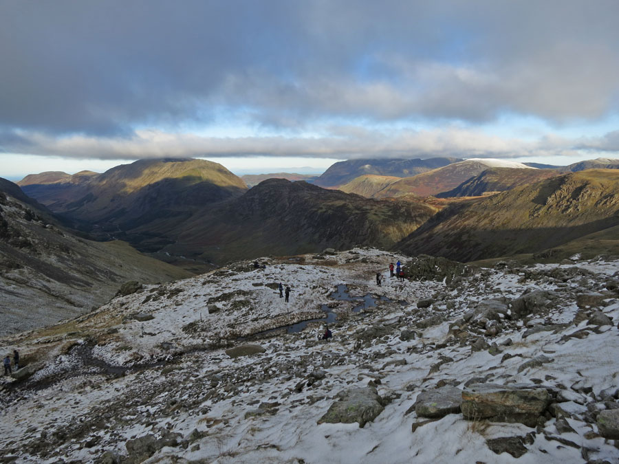 Towards the High Stile ridge and Grasmoor fells from above Beck Head
