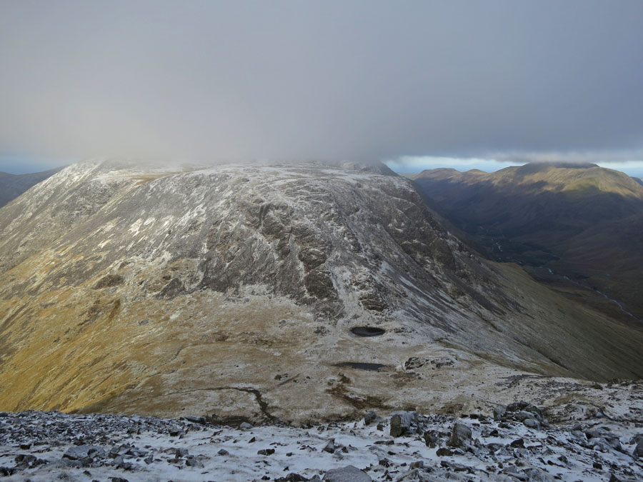 The top of Kirk Fell is just in cloud