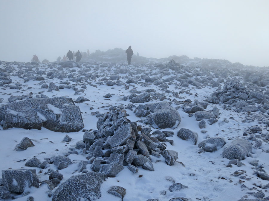 Approaching Great Gable's summit