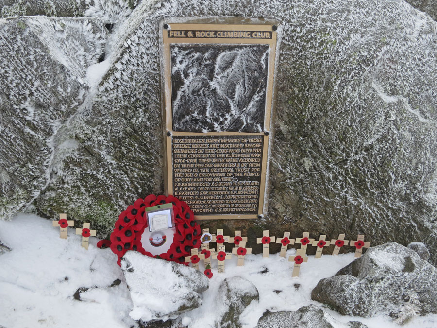 The new Fell and Rock Climbing Club's war memorial on Great Gable summit