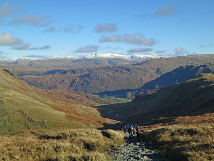 Descending back to Honister