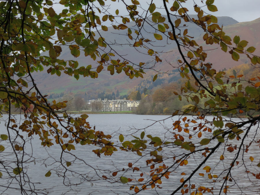 Looking across Grasmere to the Daffodil Hotel