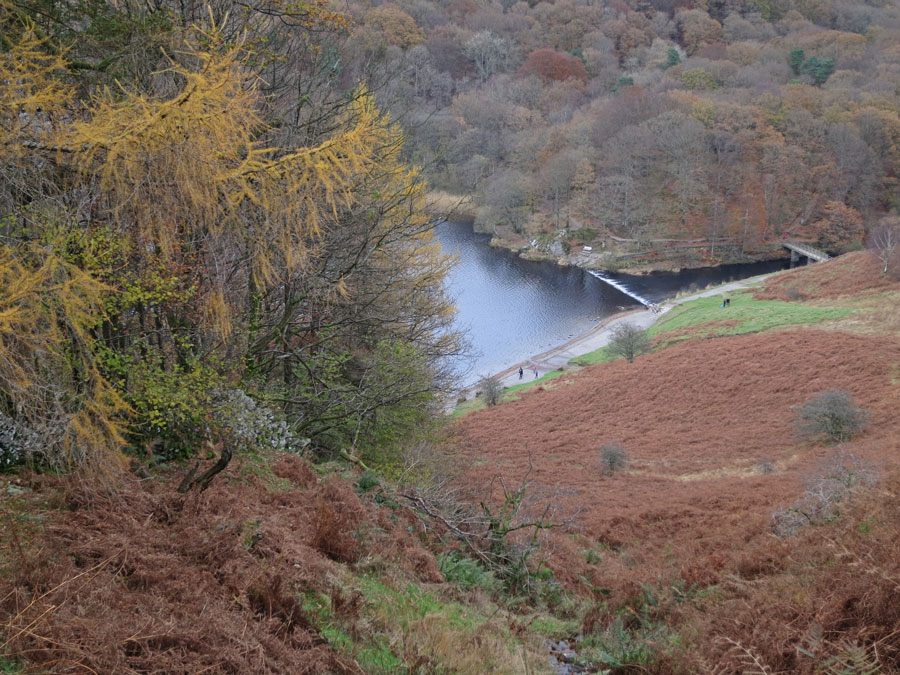 Grasmere's weir from the end of Loughrigg Terrace