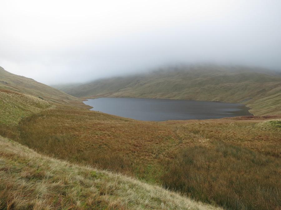 Grisedale Tarn, just below the cloud
