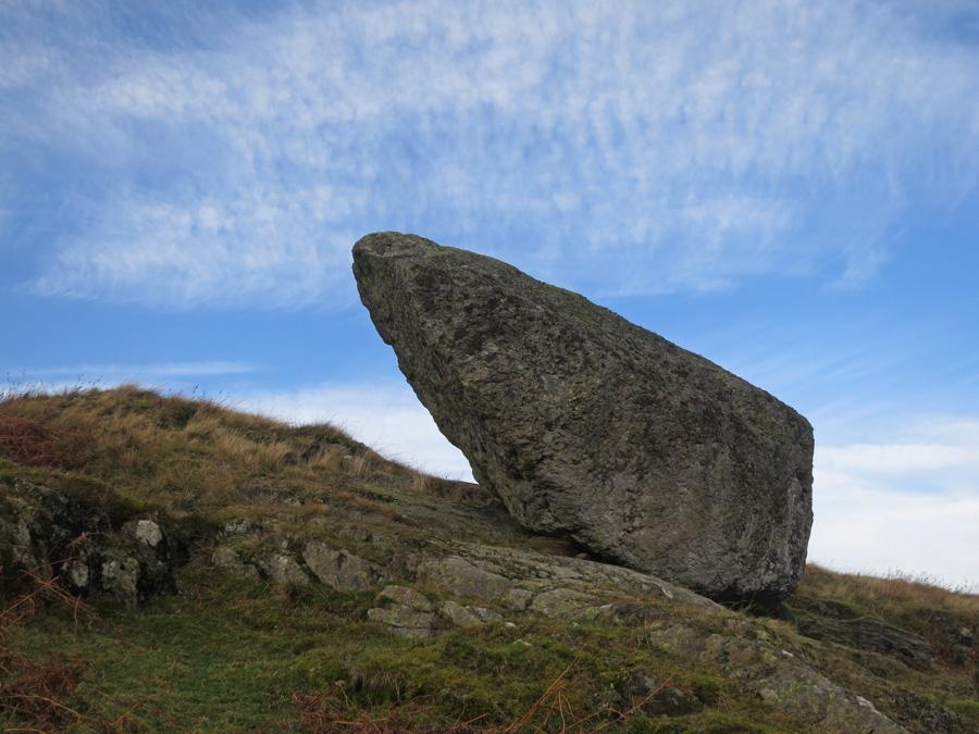 The perched boulder