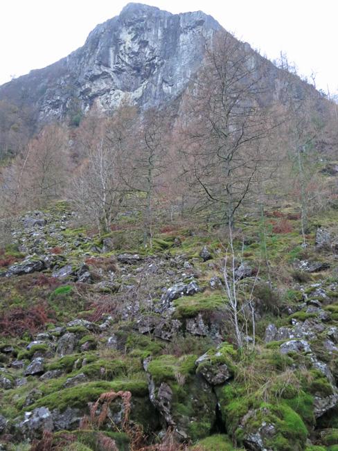 Raven Crag from below