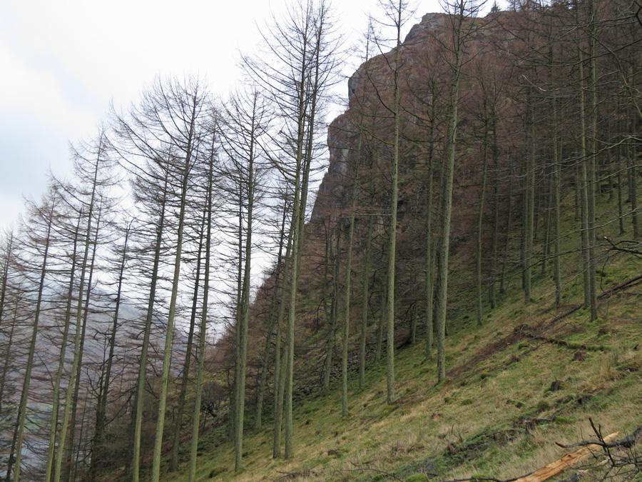 Looking across to Raven Crag
