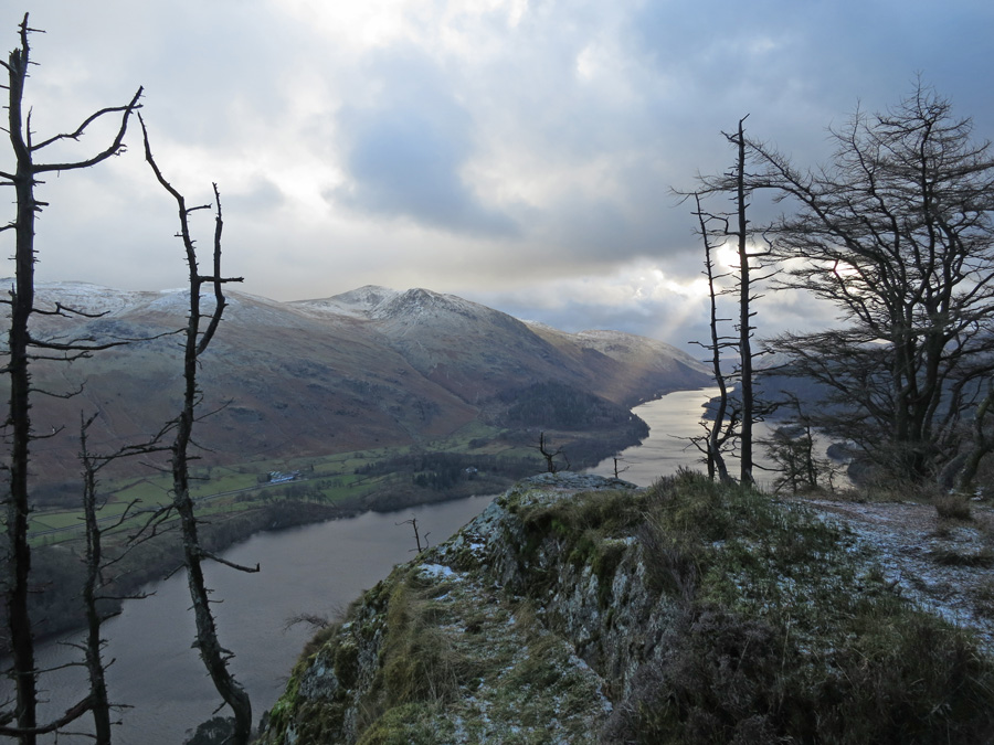 Helvellyn and Thirlmere from Raven Crag's summit