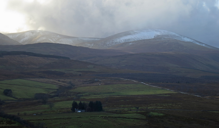 Stybarrow Dodd and Great Dodd with a bit of snow