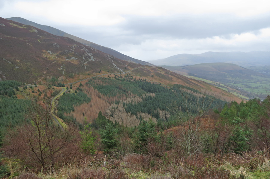 Carl Side's south ridge with Skiddaw Little Man behind and Latrigg on the right