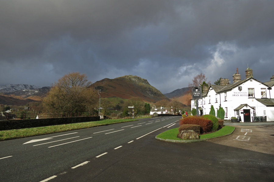Helm Crag and the Swan Hotel, Grasmere