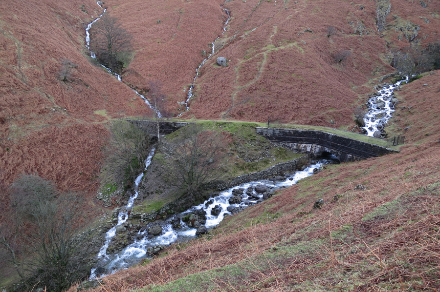 The Thirlmere aqueduct over Greenhead Gill
