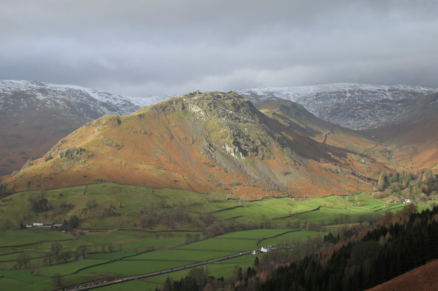 Helm Crag catches the sun